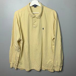Polo Ralph Lauren Yellow Long Sleeve Polo Shirt